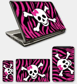 Skulls ~ Pink Zebra Skull ~ 3000 N200 ~ LENOVO ~ Theme